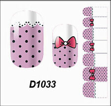 Pink Full Self Nail Wraps Stickers Adhesive Polish Foils Decoration Art Decals