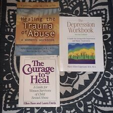 Courage to Healing Trauma Abuse Depression New Harbinger Self Help Workbooks LOT