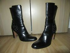 Womens DIOR Italian Black All Leather Boots Size EU 39.5 / UK 6.5 HARDLY WORN