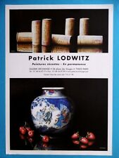 LODWITZ Patrick AFFICHE Grands crus Bouchon Vin français Porcelaine China