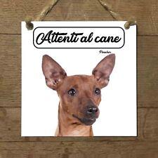 Pinscher MOD 3 Attenti al cane Targa cane cartello ceramic tles
