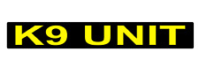 K9 UNIT  MAGNET DOG HANDLER MAGNETIC SECURITY CHEVRON DAYGLO  620mm