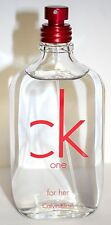 CK One Red by Calvin Klein for Women  Tester3.4/3.3 oz EDT Spray  New No Box