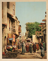 P. Z. Egipto Cairo Vintage Photochrom De Una Foto de Bonfils Aprox 1880