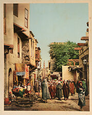 P.Z. Egypte Caire Vintage photochrome d'après une photo de Bonfils ca 1880