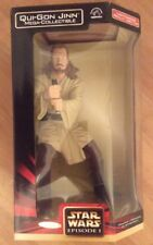 "Star Wars Qui-Gon Jinn Mega-Collectible 12"" Jedi Action Figure & lightsaber MISB"