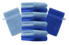 10er Pack Waschhandschuhe Premium Farbe: Royalblau & Hellblau, Größe: 1267