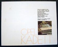OPEL KADETT gamma SALES BROCHURE settembre 1968.