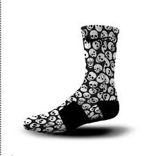 Custom Nike Elite Socks All Sizes BLACK SKULLS