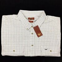 RM Williams Men's Button Down Collar Long Sleeve Port Elliot Check Shirt 5XB NEW