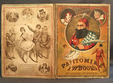 CHROMOLITHOGRAPHS McLoughlin BLUE BEARD: PANTOMIME TOY BOOKS c. 1890 Children's