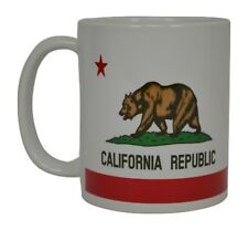 Best Funny Coffee Mug Tea Cup Gift Novelty California State Flag Bear Grizz