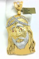 JESUS FACE PENDANT 10K SOLID YELLOW GOLD  * Free Shipping * 30.8 GRAMS* 3 INCHES