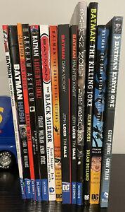 Batman DC Trade Paperback 13 Book Lot HUSH KILLING JOKE DARK KNIGHT RETURNS etc