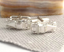 VINTAGE SPORTS CAR CUFFLINKS - Hallmarked Sterling Silver