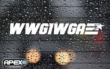 WWG1WGA GI JOE Q Anon Anonymous Patriotic Trump White Vinyl Sticker Not Infowars