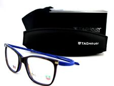 RARE New Authentic REFLEX TAG HEUER Havana Blue EYE Glasses Frame TH 3012 003