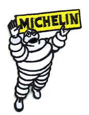 Hot Rod Patch Michelin Tires Badge Bibendum Drag Race Nostalgia Mechanic Iron On