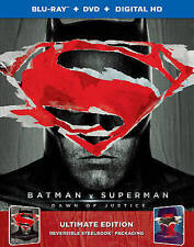 Batman v Superman: Dawn of Justice (Blu-ray/DVD, 2016, OnlyBest Buy Batman Steel
