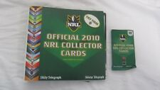 Official 2010 NRL Collector Cards Album Plus First Pack Of Cards - Unopened