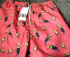 NEW + TAG High Quality Zara Mens Toucan Print Swim Shorts Swimming Beachwear XL