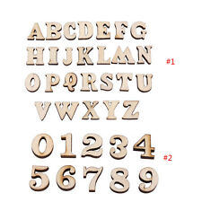 200pcs 15mm Wood MDF Letters Numbers Alphabet Kids Baby School Education Toys TP