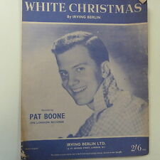 song sheet WHITE CHRISTMAS, Pat Boone, 1962