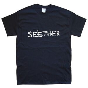 SEETHER T-SHIRT sizes S M L XL XXL colours Black, White