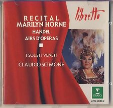 Handel - Marilyn Horne, I Solisti Veneti: Recital Airs d'Operas (Erato) Like New