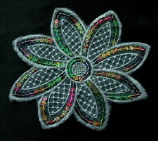 VF23 Lace Venise Venice Sequin Applique Multicolor Octagon Petals Flower
