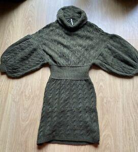 Free People moss green jumper dress size XS 8-10