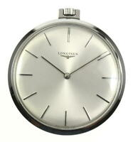 LONGINES 41mm Silver Dial Hand Winding Pocket watch _562474