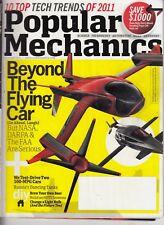 Popular Mechanics January 2011 Beyond The Flying Car - 100 MPG Cars   /j10