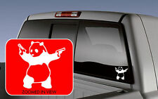 PANDA WITH GUNS VINYL DECAL CAR WINDOW Macbook STICKER BANKSY ART
