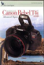 BLUE CRANE Canon Rebel T4i - 650D  Advanced Topics Digital Camera Training DVD
