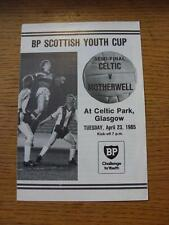 23/04/1985 scozzese Youth CUP SEMIFINALE: Celtic YOUTH V Motherwell Gioventù (4 Pa