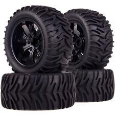 SET 1/10 Monster Truck 12MM HEX Wheel Rim & Tyre,Tires 88064 Fit TRAXXAS HSP HPI
