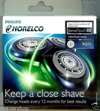 NEW PHILIPS NORELCO RQ12 RQ 12 SENSOTOUCH 3D 1290 1280 1260 1250 Shaver HEADS