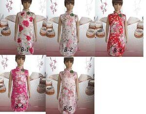 asian chinese Cheongam Girls dress1-9 yrs FLORA Silk girls dance dress UK SELLER