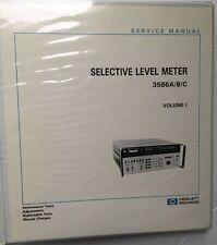 Hp 3586abc Selective Level Meter Service Manual Volume 1 Pn 03586 90002