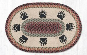 Bear Paw 20 x 30 Oval Rug by Earth Rugs