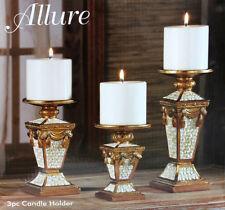 3pc Decorative Ceramic Candle Holder Size 24.8,19.7,15.2 cm - FREE Shipping