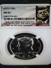 2020 P Kennedy Half Dollar 50c NGC MS 67