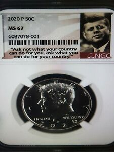 2020 P Kennedy Half Dollar 50c NGC MS 67