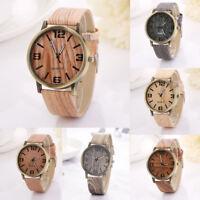 Women Lady Vintage Wood Grain Watches Fashion Women Quartz Watch Wristwatch Gift