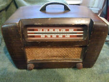 Vintage wood radio Philco TRANSTONE Works