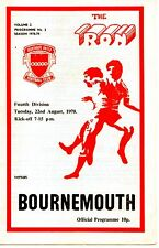 Scunthorpe United v Bournemouth 1978/79 division 4