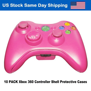 Pink Shell Case Parts Button Screws Cover for Xbox 360 Gamepad Controller 10PACK