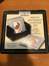 New listing Interiors by Design Photo Coaster Set of 4 with Holder