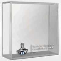 2020 TAMPA BAY LIGHTNING Stanley Cup Champions NHL Hockey Puck Case Cube (Empty)